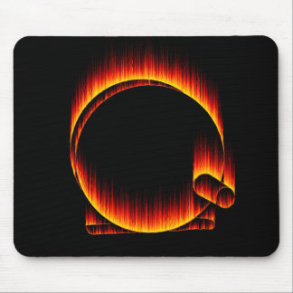 Fishing Reel on Fire Mouse Pad