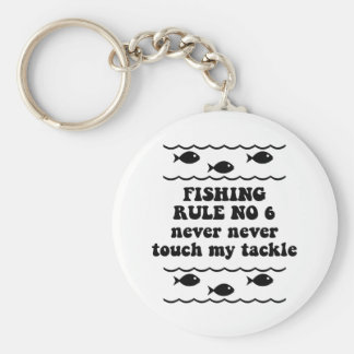 Fishing Rule No 6 Basic Round Button Key Ring