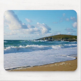 Fistral Beach Newquay Cornwall England Mouse Pad
