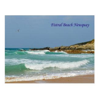Fistral Beach Newquay Cornwall England Postcard