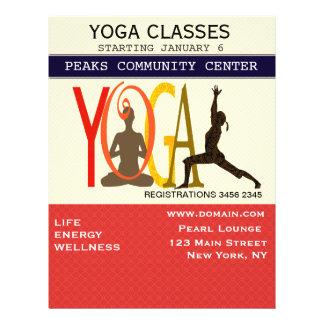 Fitness Exercise Pilates Yoga Modern Personalized 21.5 Cm X 28 Cm Flyer