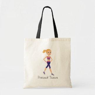 Fitness Girl Cartoon Budget Tote Bag
