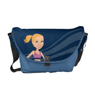 Fitness Girl Cartoon Commuter Bag