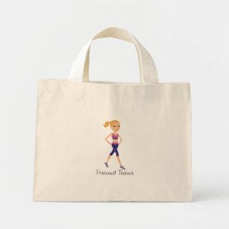 Fitness Girl Cartoon Mini Tote Bag