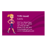 Fitness Girl Cartoon Pack Of Standard Business Cards