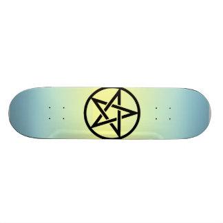 Five 芒 stars skate board deck