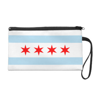 Flag of Chicago Bagettes Bag Wristlet Purses