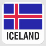 FLAG of ICELAND Square Sticker