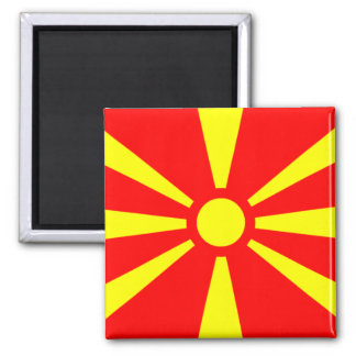 Flag of Macedonia Square Magnet