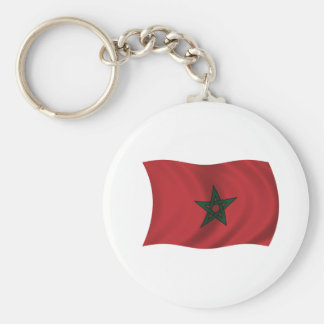 Flag of Morocco Basic Round Button Key Ring