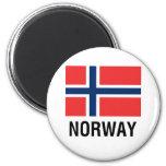 FLAG of NORWAY 6 Cm Round Magnet