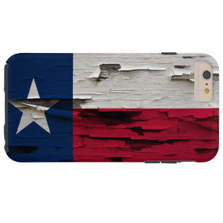 Flag of Texas Paint Peel Look Tough iPhone 6 Plus Case