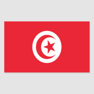 Flag of Tunisia Rectangular Sticker