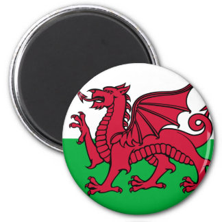 Flag of Wales 6 Cm Round Magnet