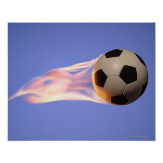 Flame Football Poster