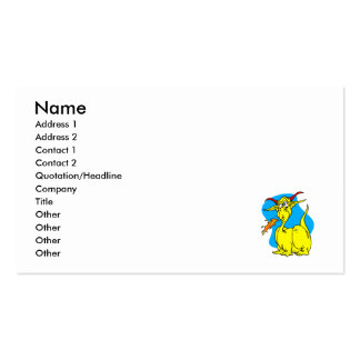 Flame Sneezer Yellow Dragon.png Pack Of Standard Business Cards