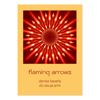 flaming arrows kaleidoscope artist card ACEO Pack Of Chubby Business Cards