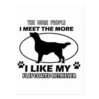 FLAT COATED RETRIEVER.png Postcard