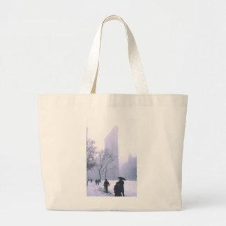 Flatiron Building Snow Storm NeW York Jumbo Tote Bag