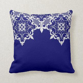 Fleur De Lace Blue Pillow Cushions