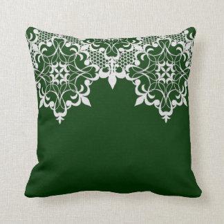 Fleur De Lace Green Pillow Cushions