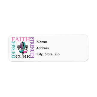 Fleur De Lis 3 Thyroid Cancer Return Address Label