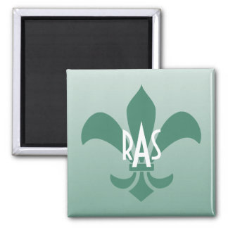 Fleur de Lis Gradient Faded Light *Pick Any Color* Square Magnet