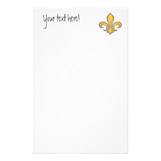Fleur de Lis in solid color  - Yellow Personalised Stationery