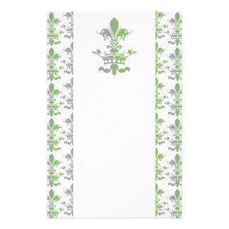 Fleur Heart Crown - Green Stationery Paper