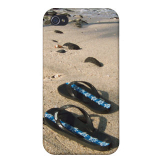 Flip Flop Sandals on the Beach iPhone 4 Cover