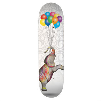 Floating Peace Elephant Damask Balloons 20.6 Cm Skateboard Deck