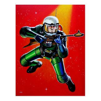 FLOATING SPACEMAN POSTCARD