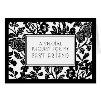 Floral Best Friend Maid of Honor Invitation Card