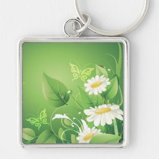 Floral Fashion 7 Keychain