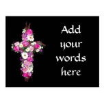 Floral/Flower Cross Postcard