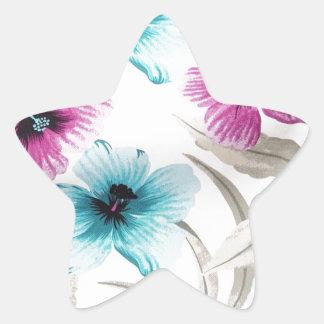 Floral Flowers Colours Art Artistic Beautiful fine Star Sticker