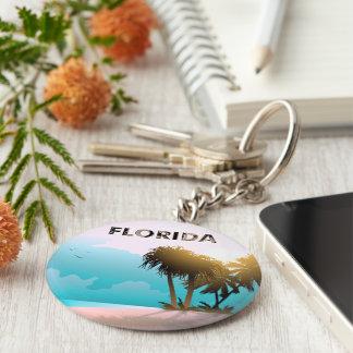 Florida Basic Round Button Key Ring