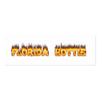 Florida Hottie Fire and Flames Pack Of Skinny Business Cards