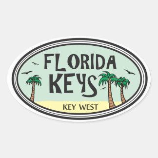 Florida Keys Oval Sticker