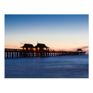 Florida - Pier of Naples at twilight postcard