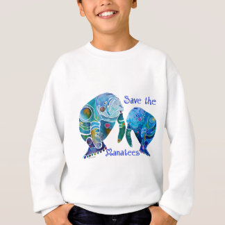 Florida Save the Manatees in Vivid Blues T Shirts