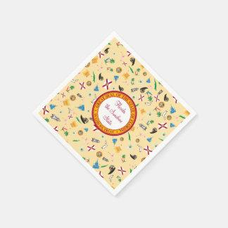 Florida the sunshine state famous items paper serviettes