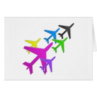 flotte d'avion cadeaux pour les enfants AEROPLANE Greeting Card