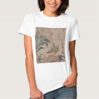 Flower and Bird Hokusai T Shirt