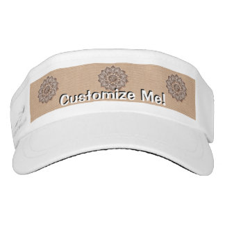 Flower Applique with Jacquard Choose ANY COLOR Visor