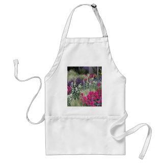 Flower display in garden standard apron