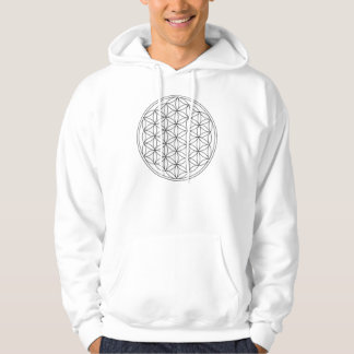 Flower of Life (Black and White) Front Only Pullover