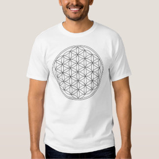 Flower of Life (Black and White) T-shirts