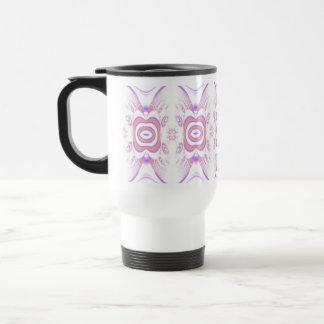 Flower Pattern in Orange and Purple. Stainless Steel Travel Mug