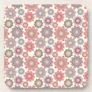 Flower power Cork Coaster